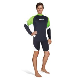 Mares Rash Guard Loose Fit Long Sleeve Man Lime