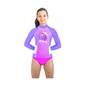 Mares Camiseta Rash Guard Kid Manga Larga Niña