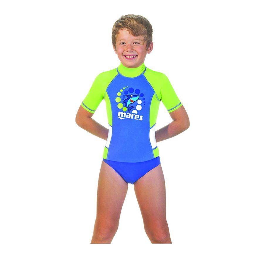 Mares Rash Guard Short Sleeve Boy - Gidive Store a2e45cff9
