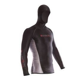 Sharkskin Chilproof Long Sleeve with Hood Man