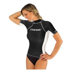 Cressi Rash Guard Short Sleeve Top Black Woman