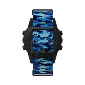 Shearwater Marina Blue Shark Camo Strap for Teric