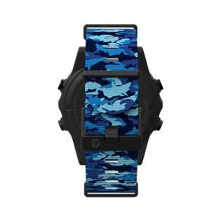 Shearwater Marina Blue Shark Camo Long Strap for Teric