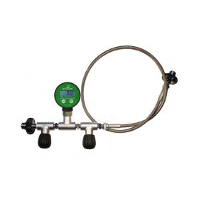 Metalsub Oxygen Decanting Hose with Digital Pressure Gauge