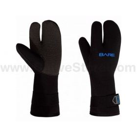 Bare Guantes 3 dedos K-Palm Mitt 7mm