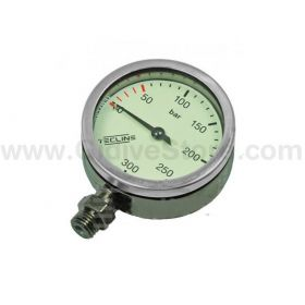 Tecline Pressure Gauge 52mm 300bar Chromed Case
