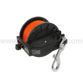 Dive Rite Slide Lock Primary Reel 132m Orange Line