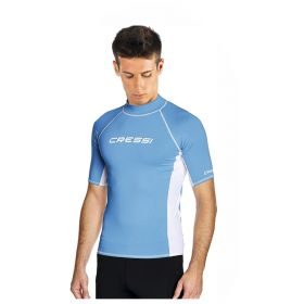 Cressi Rash Guard Short Sleeve Top Blue Man