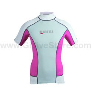 Mares Lycra Rash Guard Short Sleeve T-Shirt She Dives