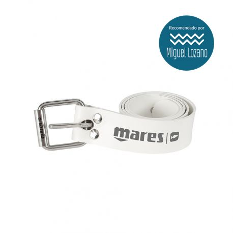 Mares Elastic Belt with SS Buckle White