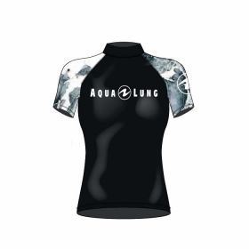 Aqualung Rash Guard Short Sleeve Black Woman