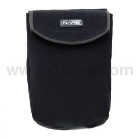 Bare Neoprene Expandable Pocket with Velcro Closure