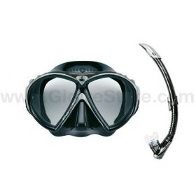 Aqualung Combo Favola Black Mask + Zephyr Snorkel